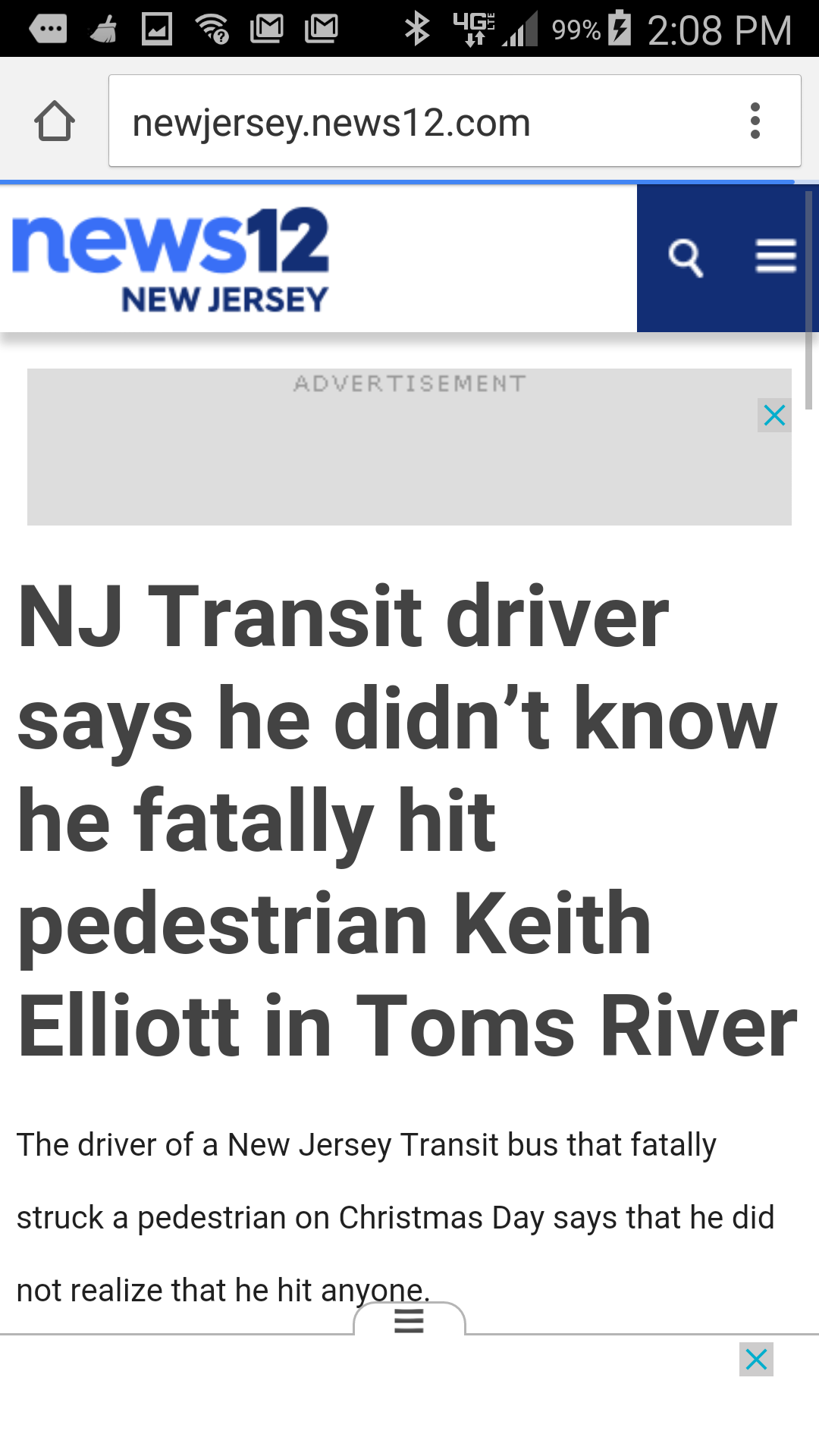 Bus Transit Christmas Day 2020 NJ Transit driver says he didn't know he fatally hit pedestrian