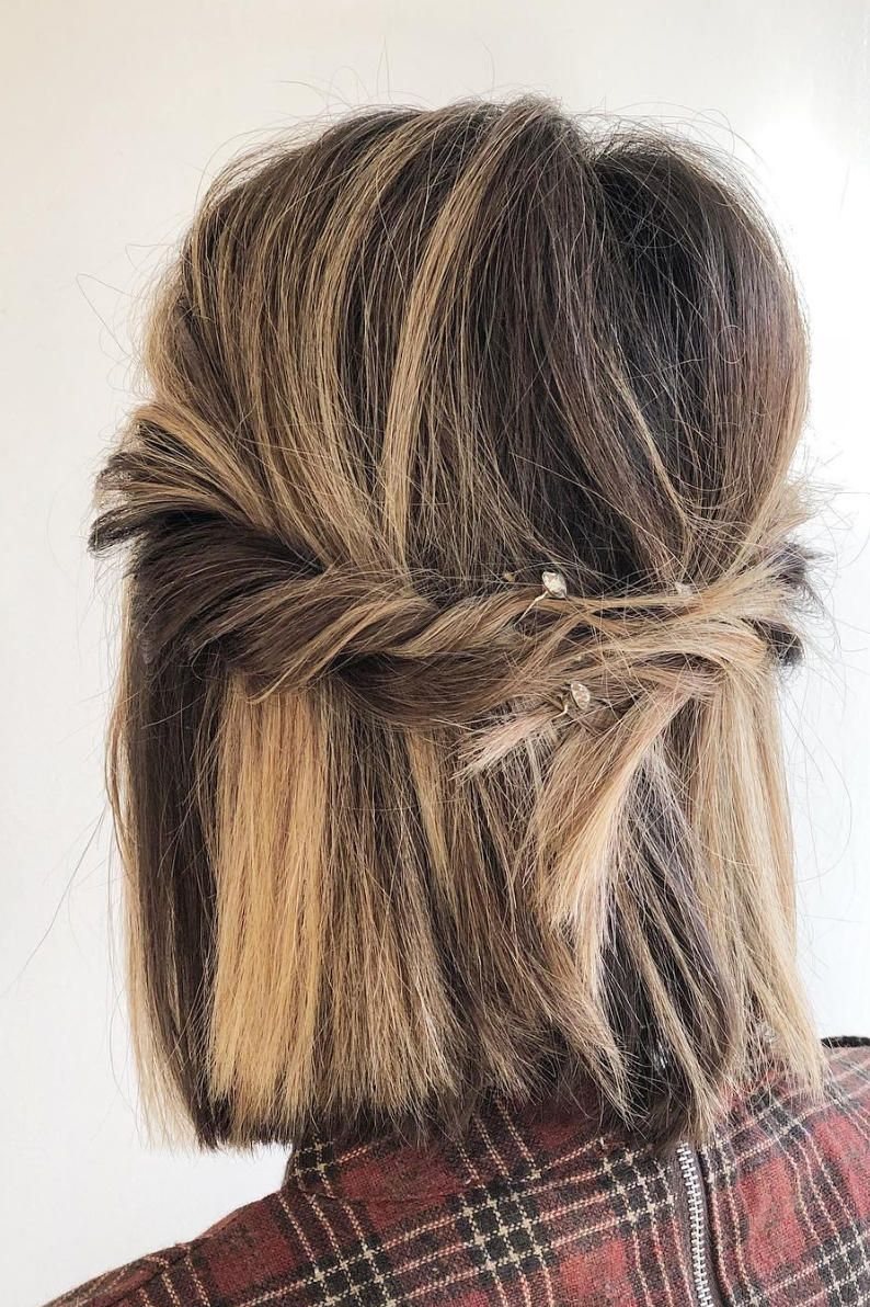 Half-Up Hairstyles We're Loving Right Now   Straight prom ...
