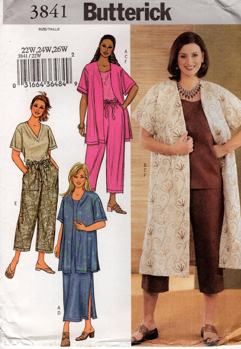 Butterick 3863 sewing pattern free us ship designer chetta b butterick 3841 sewing pattern free us ship womens plus size wardrobe drawstring pants skirt jacket top jeuxipadfo Choice Image