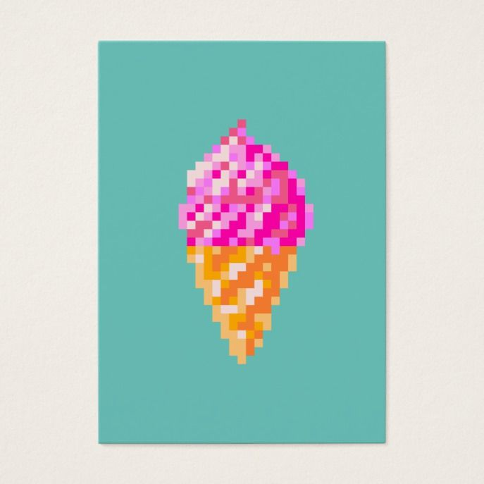 8 Bit Pixel Art Pink Ice Cream Cone Drawing In 2018 Custom Office