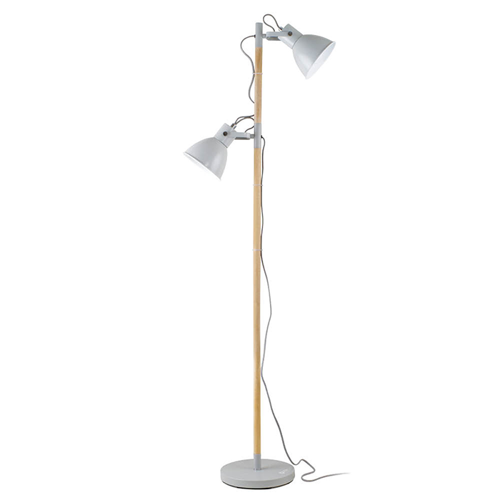 The Ottlite Avery Floor Lamp Has Two Adjustable Shades To Deliver Double Duty Ottlite Natural Daylight Illumination 2 8 5 Wa Floor Lamp Lamp Floor Lamp Grey