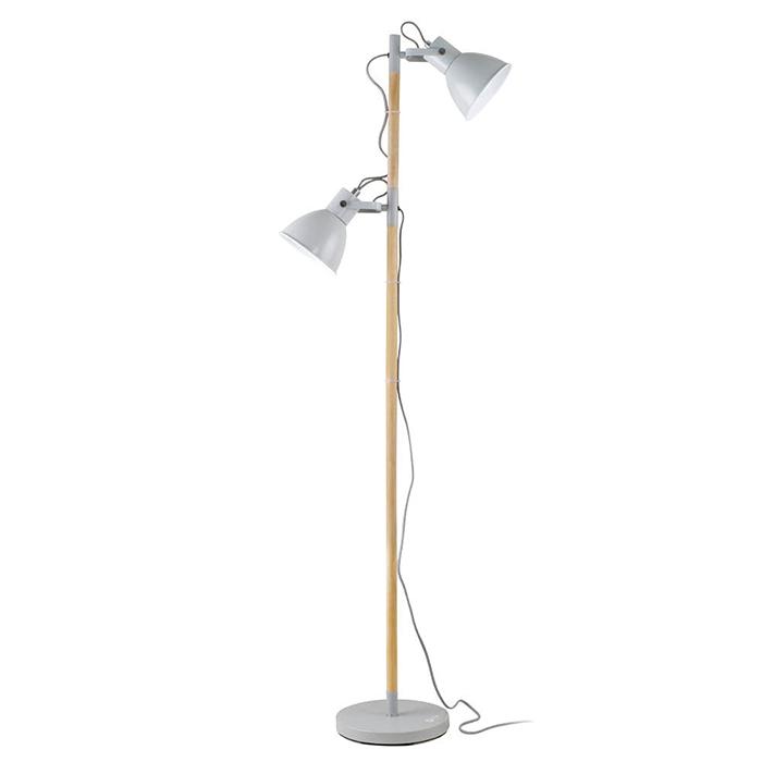 The ottlite avery floor lamp has two adjustable shades to deliver the ottlite avery floor lamp has two adjustable shades to deliver double duty ottlite natural daylight illumination watt incandescent equivalent energy aloadofball Image collections