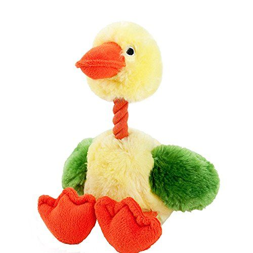 Wangstar Pet Duck Dog Toy Cozie Squeaky Dog Toy Plush Puppy Dog