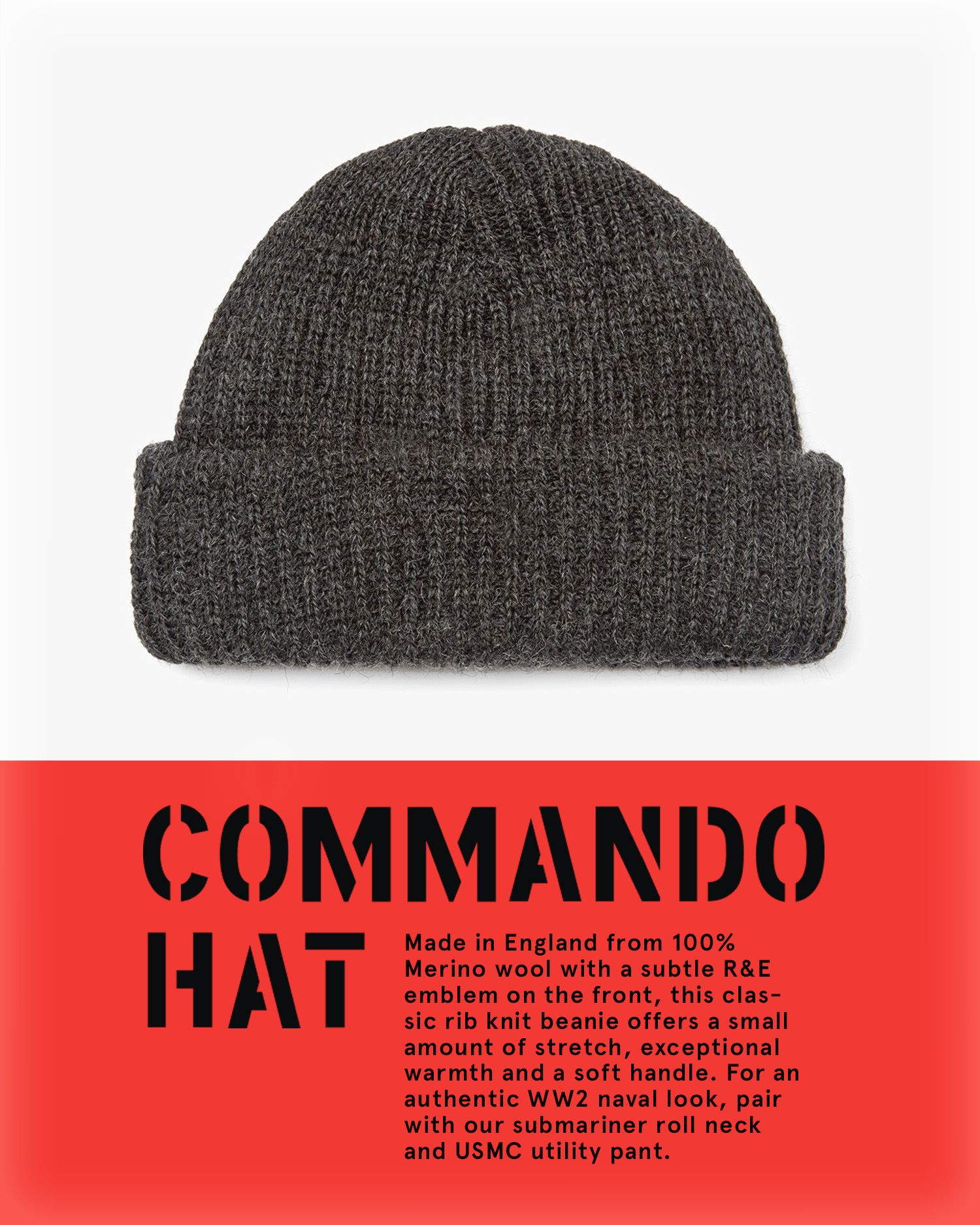 Keep your  Noggin  warm this winter with an old favourite! Our Commando Hat  is made in UK from 100% British lamb s wool with ... cb153326edc
