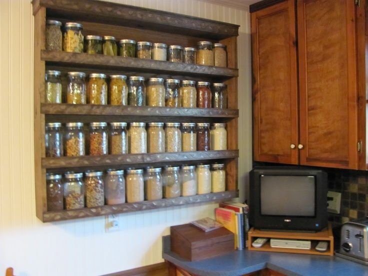 Canning Jar Storage Shelves   Bing Images
