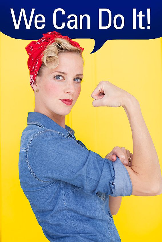 Rosie the Riveter costume costume party!!! Pinterest Best