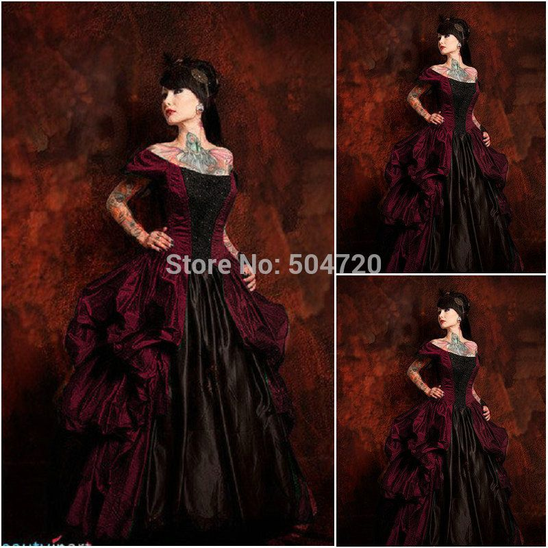gothic lolita dress Picture - More Detailed Picture about Historical !R 589 Vintage Costumes 1860s Civil War Southern Belle Ball wedding Dress/Gothic Lolita Dress Victorian dresses Picture from Niel's Costume Store   Aliexpress.com   Alibaba Group #dressesfromthesouthernbelleera