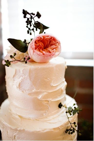 simple wedding cake - buttercream :) yummmm