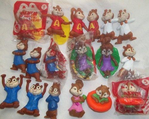 Mcdonalds Alvin Chipmunks Chipwrecked Simon Jeanette Theodore Brittany Toy Lot Ebay Chipmunks Mcdonalds Alvin