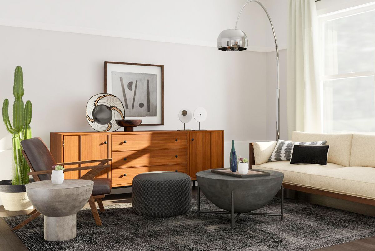 8 Mid Century Modern Living Room Ideas We Love Modsy Blog In 2020 Mid Century Modern Living Room Mid Century Modern Living Room Design Mid Century Modern Living