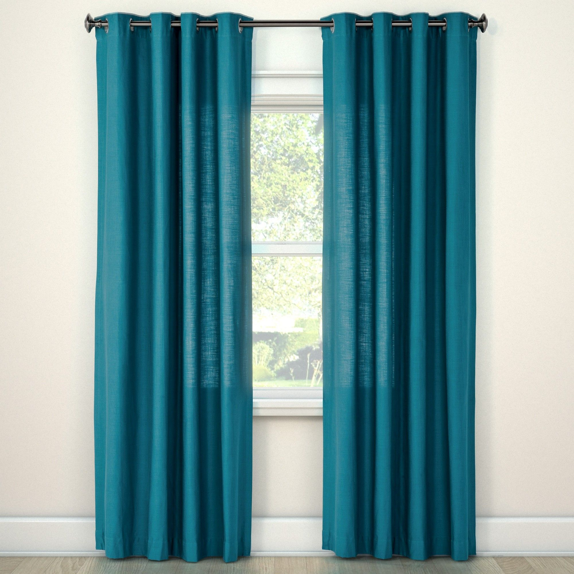 95 X54 Natural Solid Curtain Panel Turquoise Threshold Solid Curtains Velvet Curtains Curtains