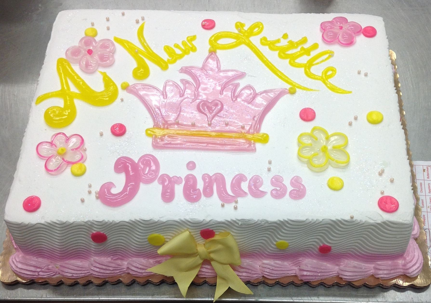 Calumet Bakery A new little princess baby shower cake
