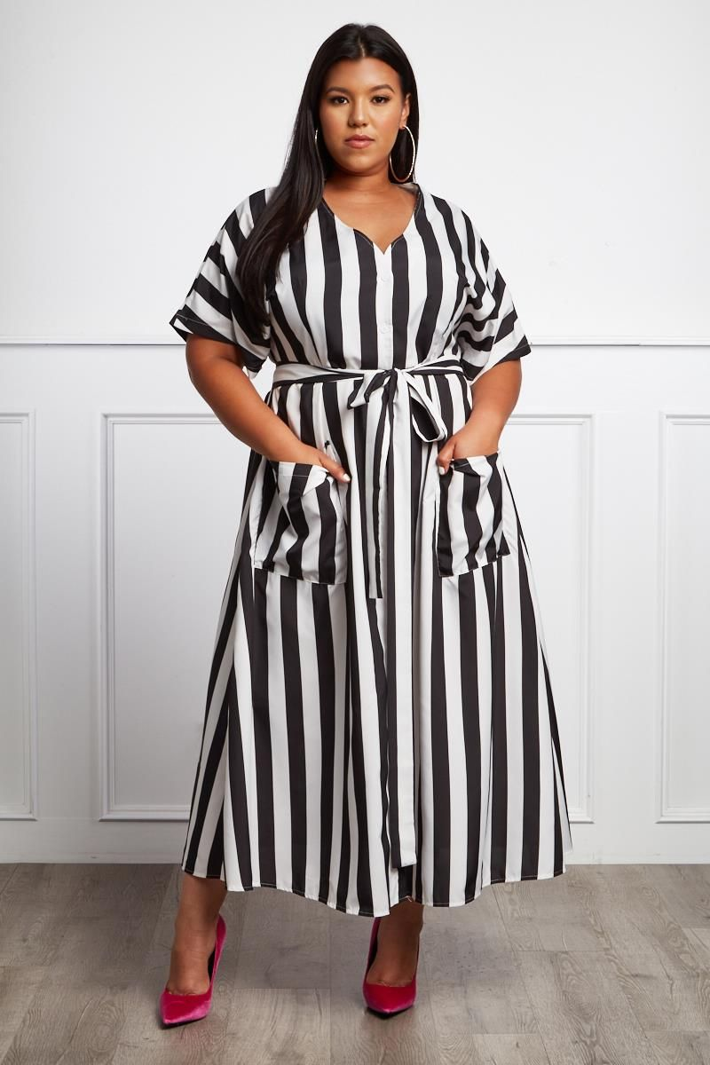 Abandon Those Haters With Style In This Breezy Plus Size Striped Maxi Dress Features An Allove Plus Size Outfits Plus Size Fashion For Women Plus Size Fashion [ 1200 x 800 Pixel ]