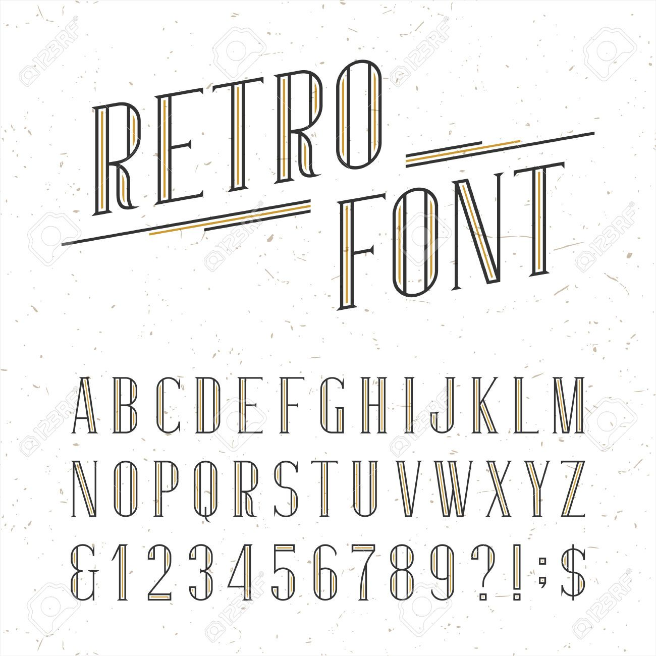 Gevonden op nl123rf via google banners pinterest banners serif type letters numbers and symbols on the white background with distressed overlay texture stock vector typography for labels headlines posters etc buycottarizona