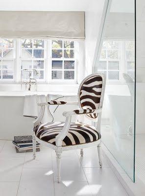 gorgeous zebra print chair