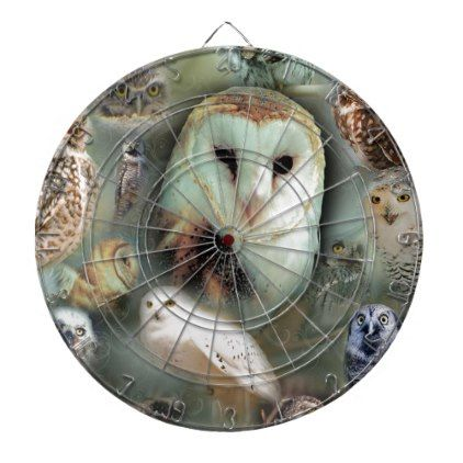Happy Owls Dartboard With Darts - barn gifts style ideas unique custom