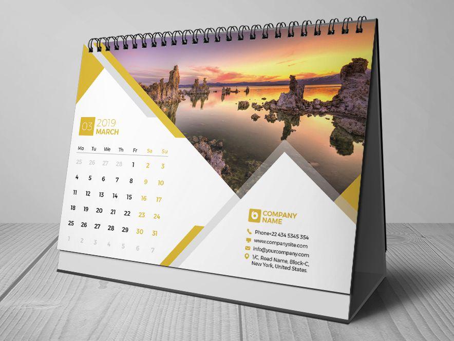 Desk Calendar 2019 Desk Calendar 2019 Pinterest Desk calendars