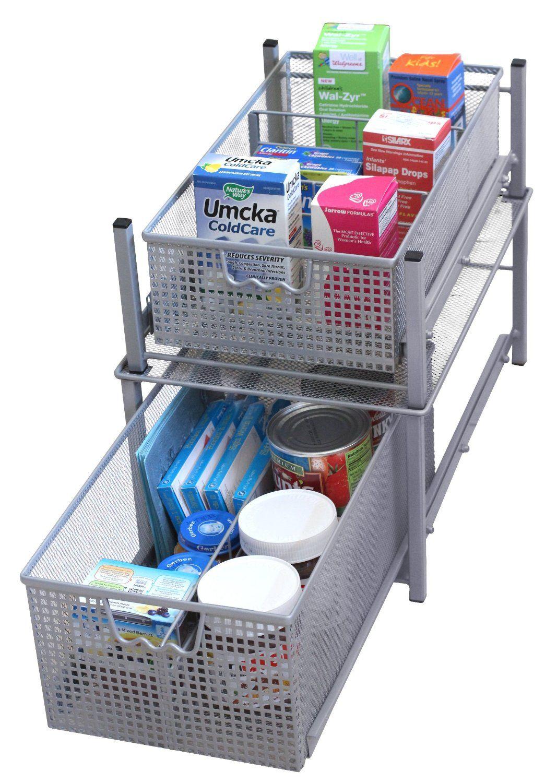 Amazon.com - DecoBros Mesh Cabinet Basket Organizer ...