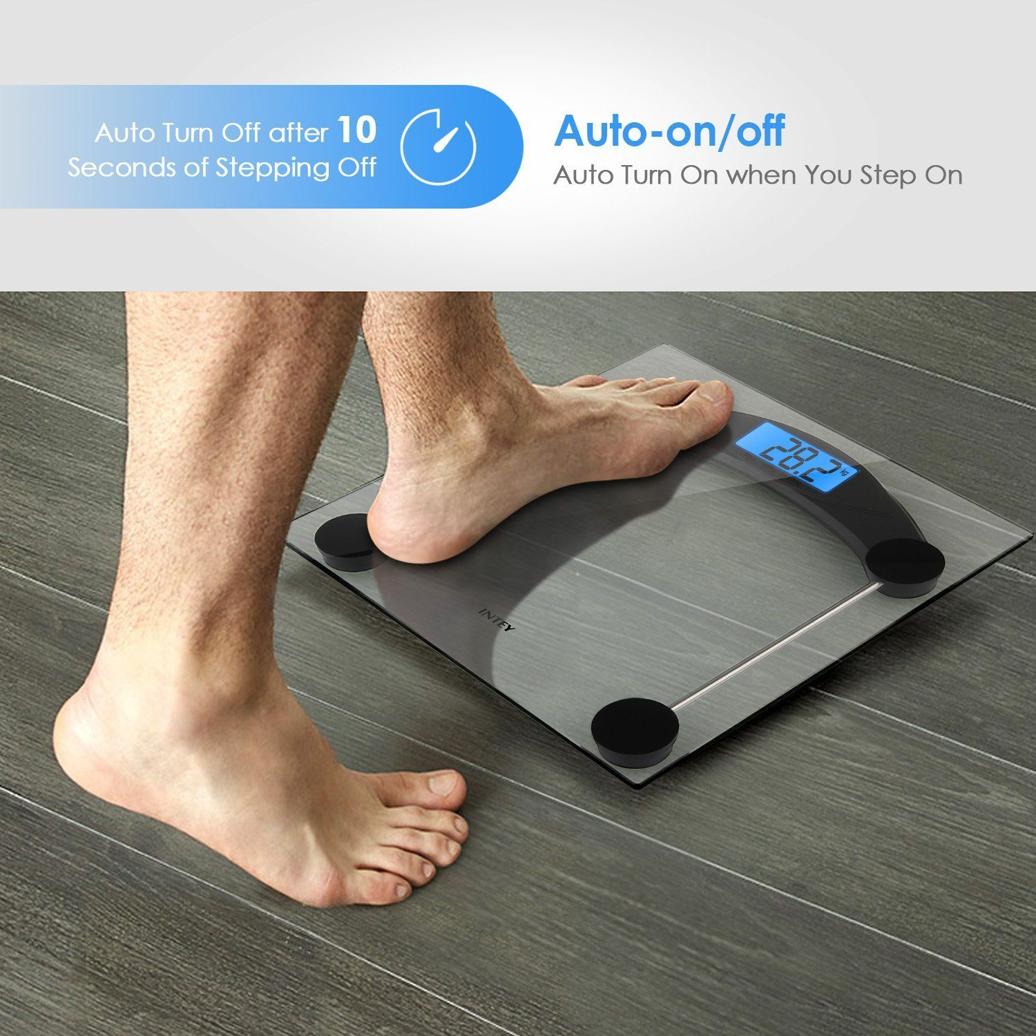 Amazon scale bathroom - Amazon Com Intey Digital Scale High Accuracy Premium Digital Bathroom Body Weight Scale 400