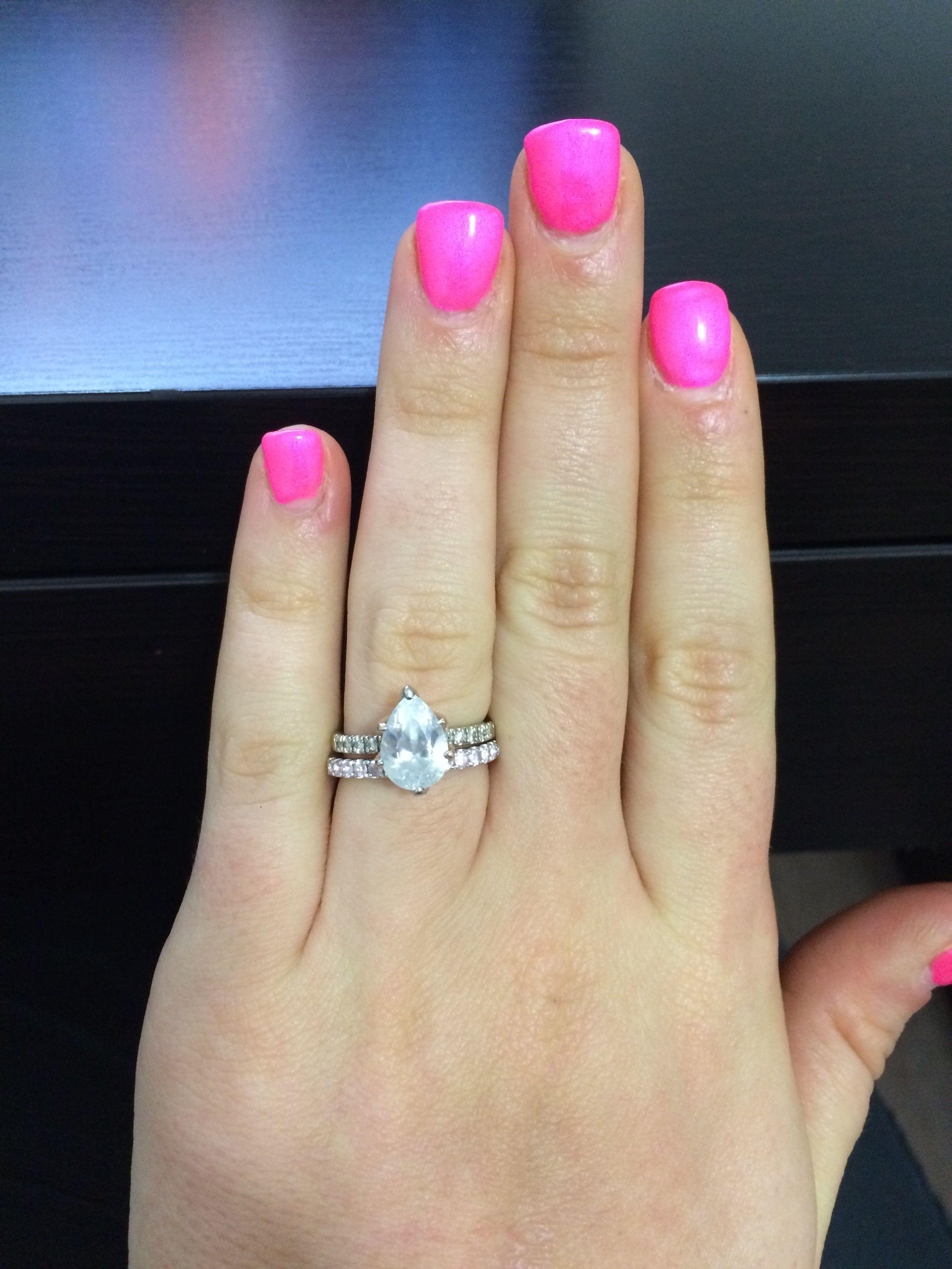MEAN GIRL | Neon pink nails, Pink acrylic nails, Pink nails