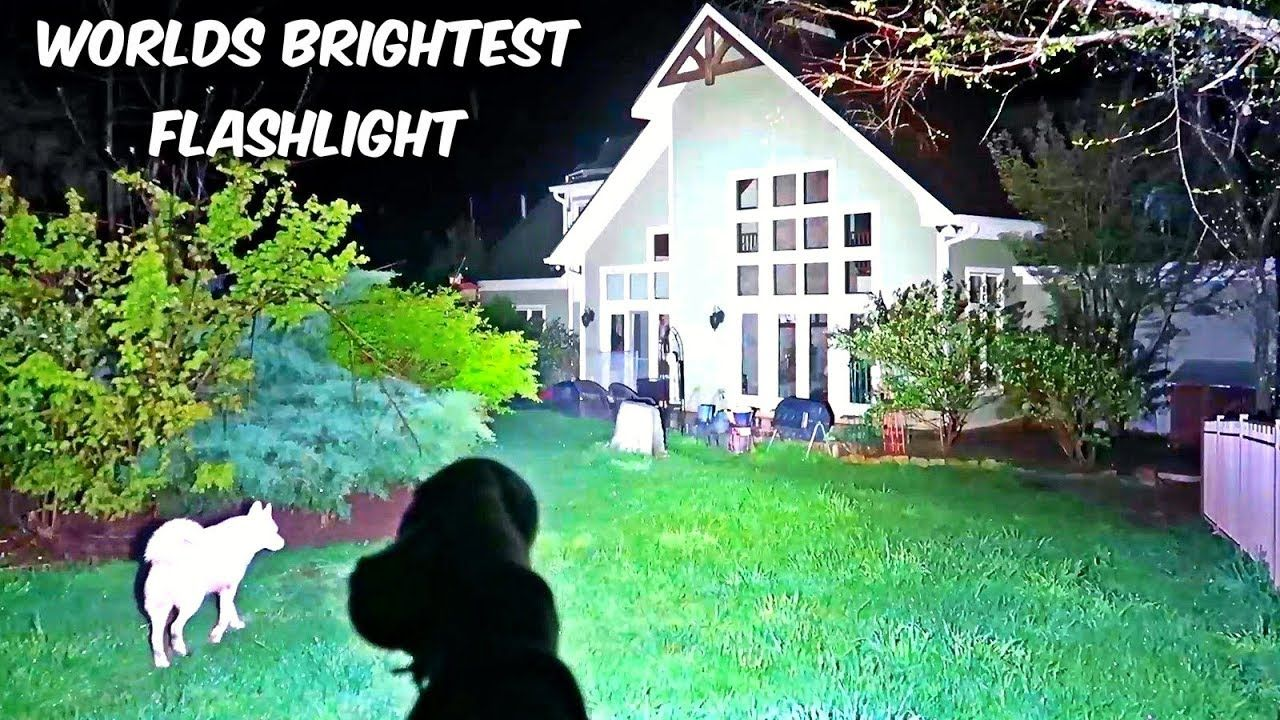 Worlds Brightest Flashlight 32000 Lumens Survival Super Bright