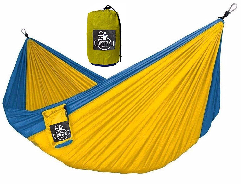 Archer og lightweight single nest parachute camping hammock ropes