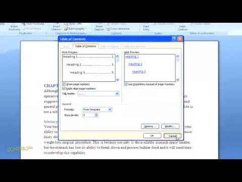 How To Create A Table Of Contents In Word 2007 For Dummies Word 2007 Medical Marketing Words