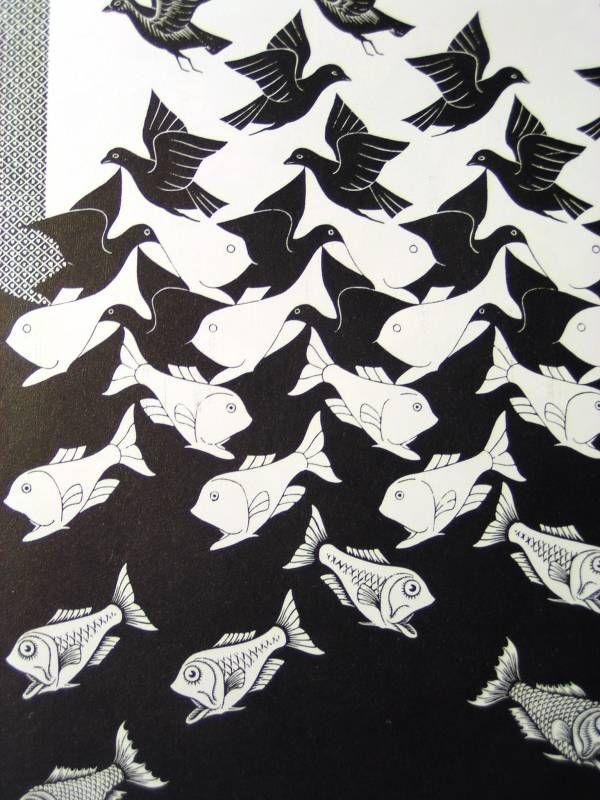 Sky and water escher 1938 pattern pinterest for Escher metamorfosi