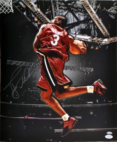Signed Dwyane Wade Photo Miami Heat Autograph Sign Autograph