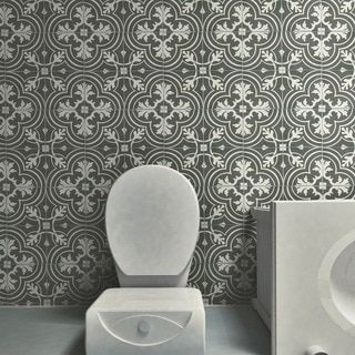 SomerTile X Inch Art Grey Porcelain Floor And Wall Tile - 16 inch ceramic floor tile