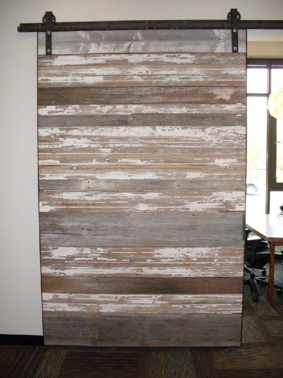 reclaimed wood sliding door by. Black Bedroom Furniture Sets. Home Design Ideas