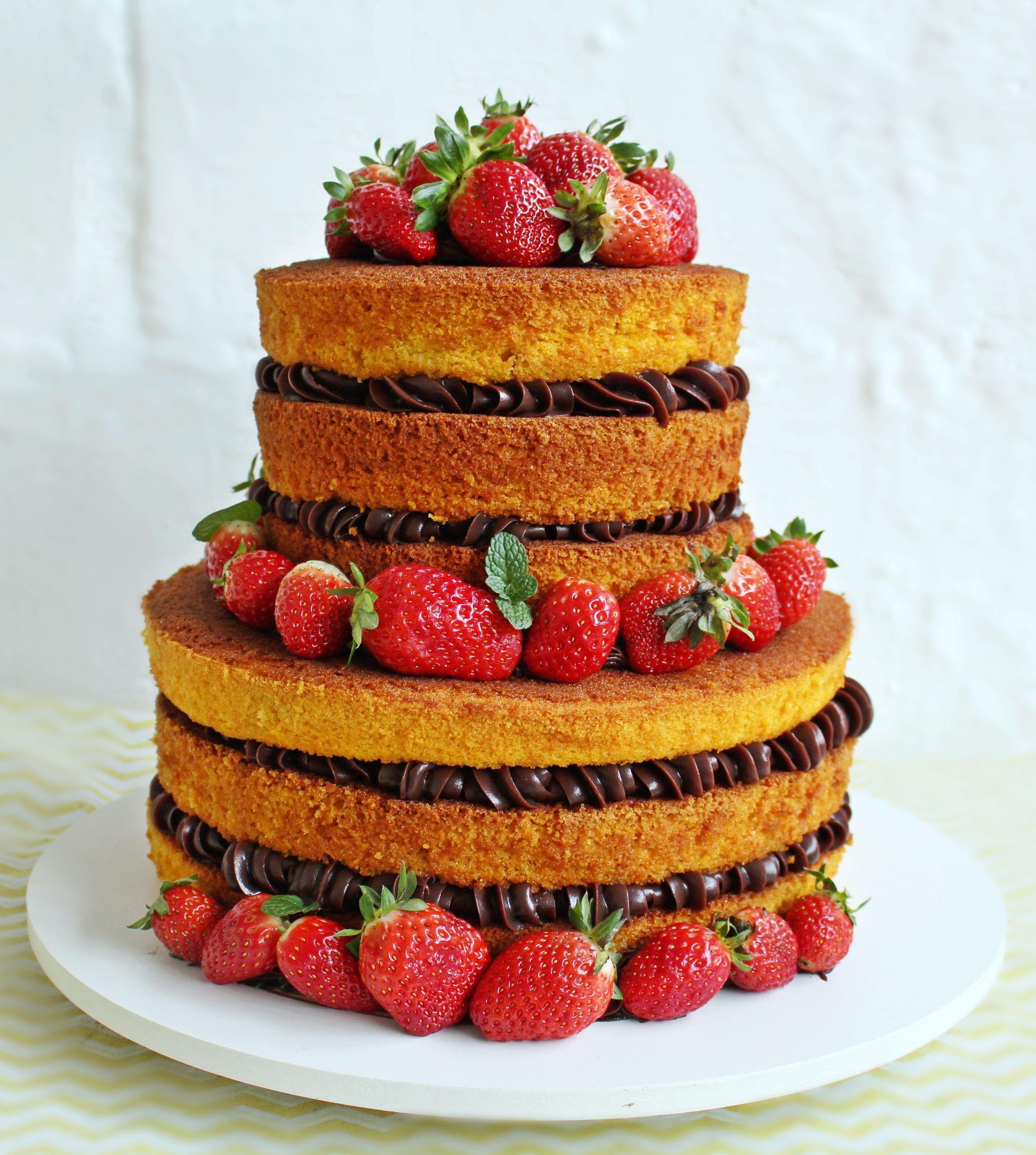 Pin Em Bolos Pelados Naked Cake