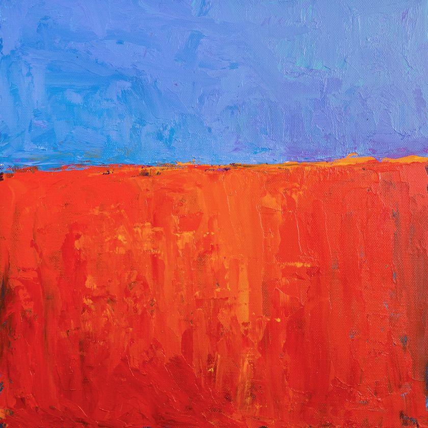 Scarlet Blue, 12x12 Acrylic on panel