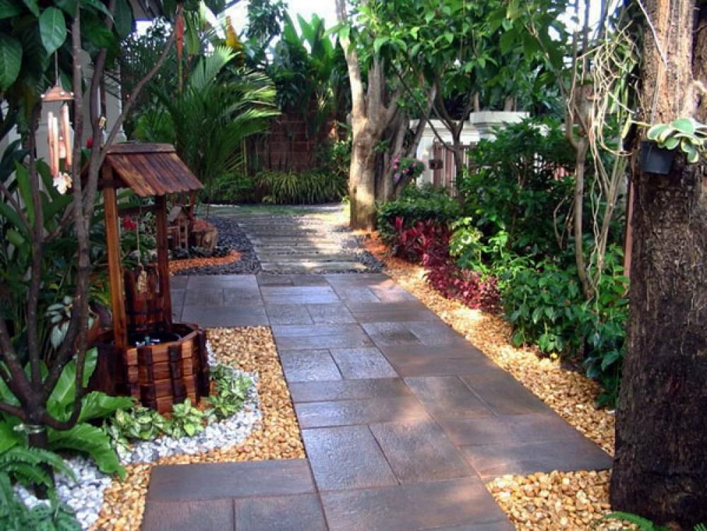 Very small backyard ideas small backyard ideas vatsam for Backyard low maintenance landscaping ideas