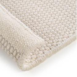 Photo of benuta wool carpet Rocco white 140×200 cm – natural fiber carpet made of wool benuta