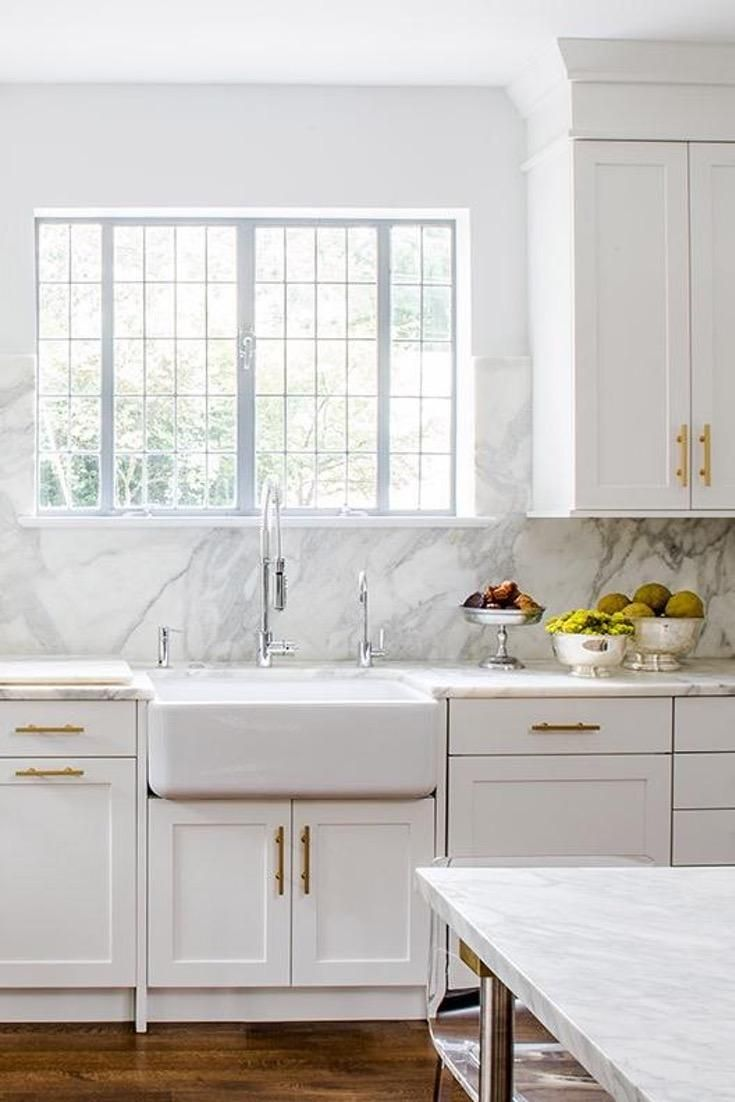 White shaker kitchen cabinets with gray glass tiles pinterest and also