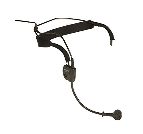 Shure Dynamic Headset Microphone  Includes Rightangle 14 Phone Plug for Unbalanced Mic