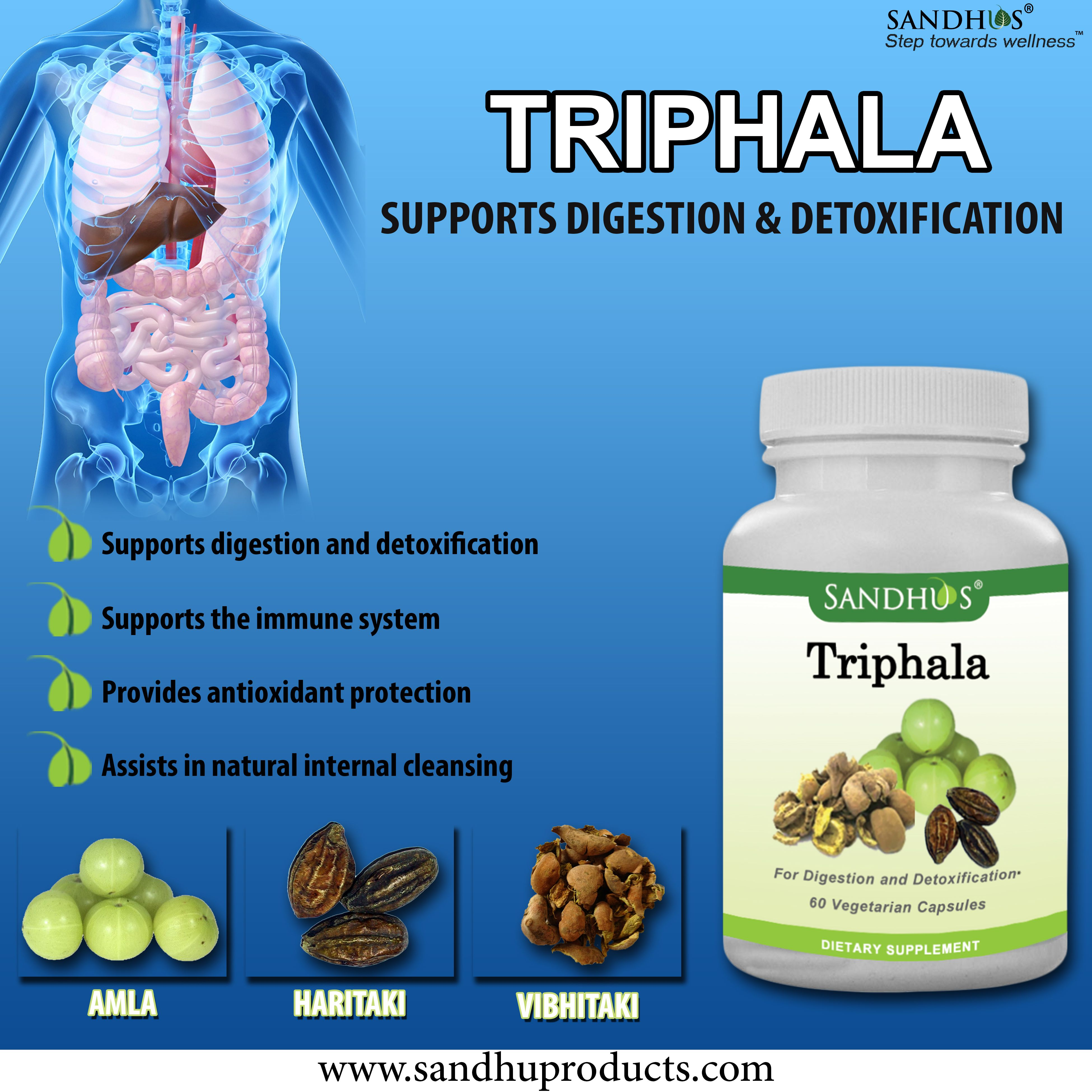 Use #SandhuProducts #Triphala #Capsules for healthy digestive system #Ayurveda #Livermore #Herb #supplements www.sandhuproducts.com