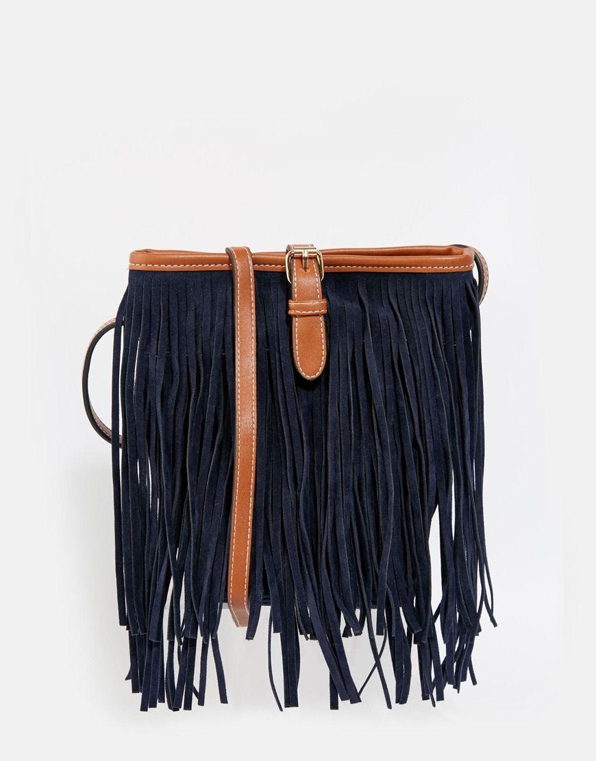 0b99642e7dc7 Vero+Moda+Fringed+Across+Body+Bag | Fashion <3 | Fringe crossbody ...