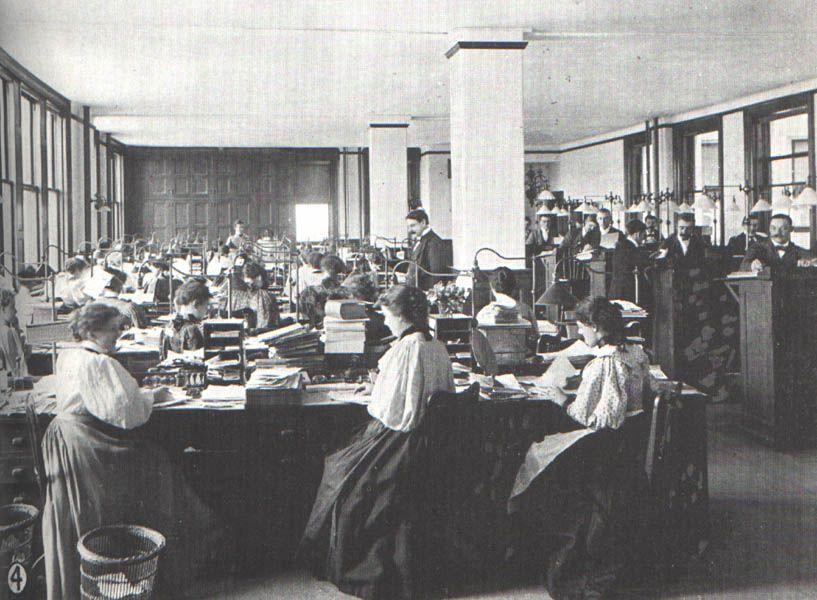Office Photos 1895 1899 Life Insurance Companies Life