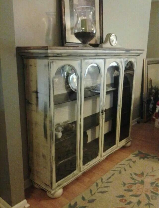 Top Of China Cabinet Add Feet Painted Furniture Idea In