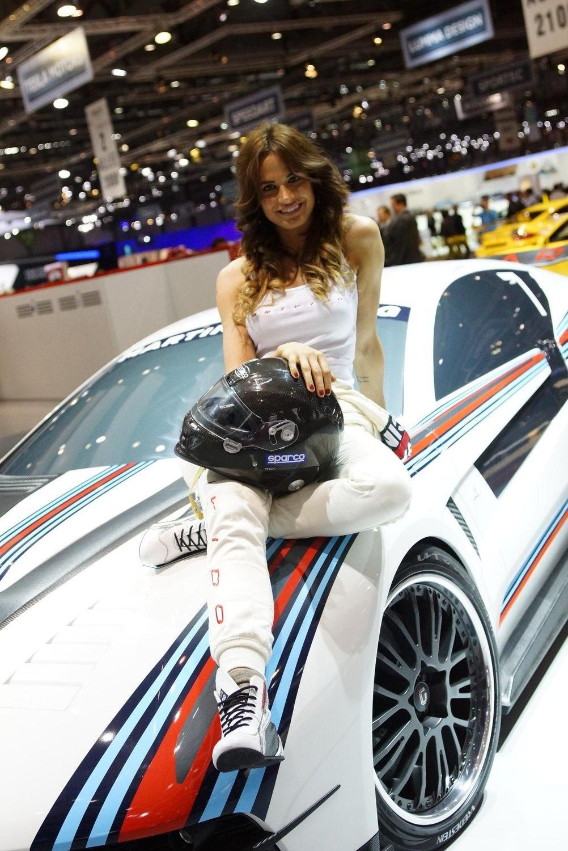 Show girl at 2012 geneva motor show
