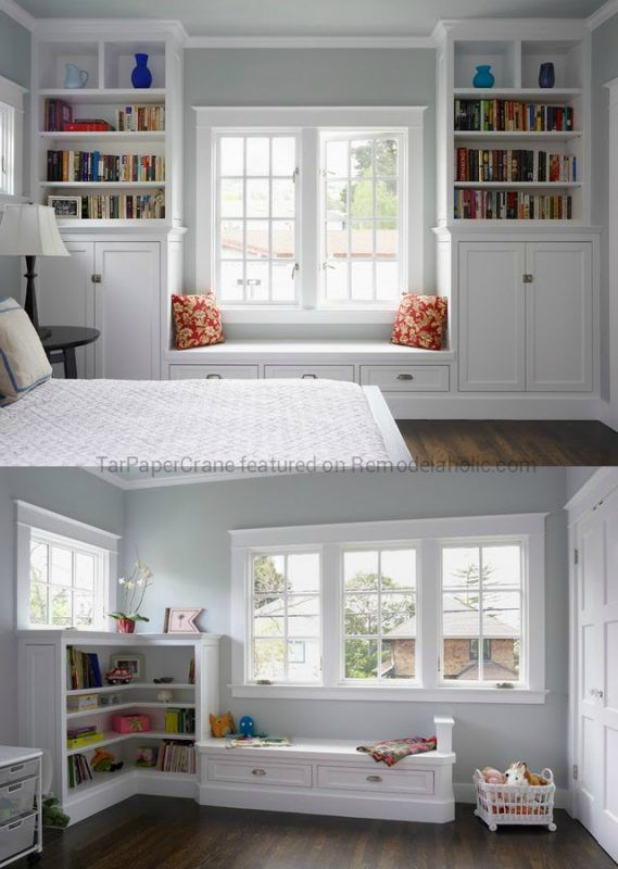 Beautiful Craftsman Style Built In Window Seat Ideas With