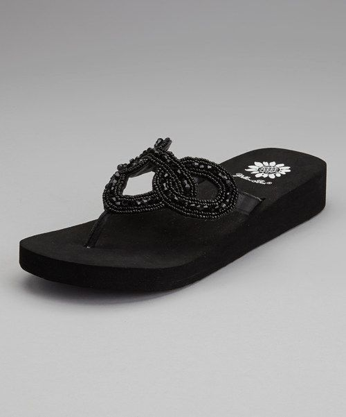 c13202691b9e3 These beaded flip-flops feature a boldly embellished upper. Thick platform  soles add a boost of beauty for an always glamorous glide.