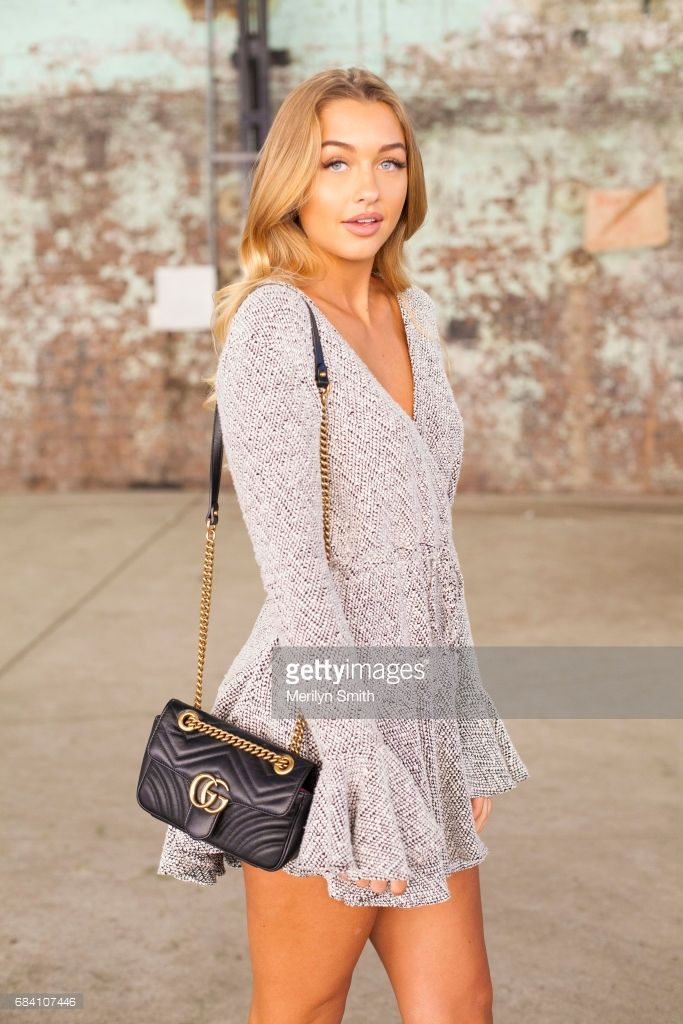 Fashion Blogger Sammy Robinson Wearing A Shona Joy Dress And Gucci Bag During Mercedes Benz Week Resort 18 Collections At Carriageworks On May 17