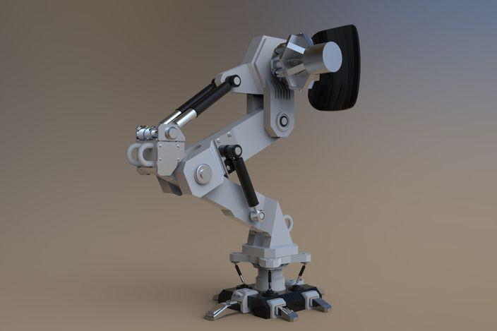 Robotic Leg - - 3D CAD model - GrabCAD | Sci-Fi in 2019 | 3d cad