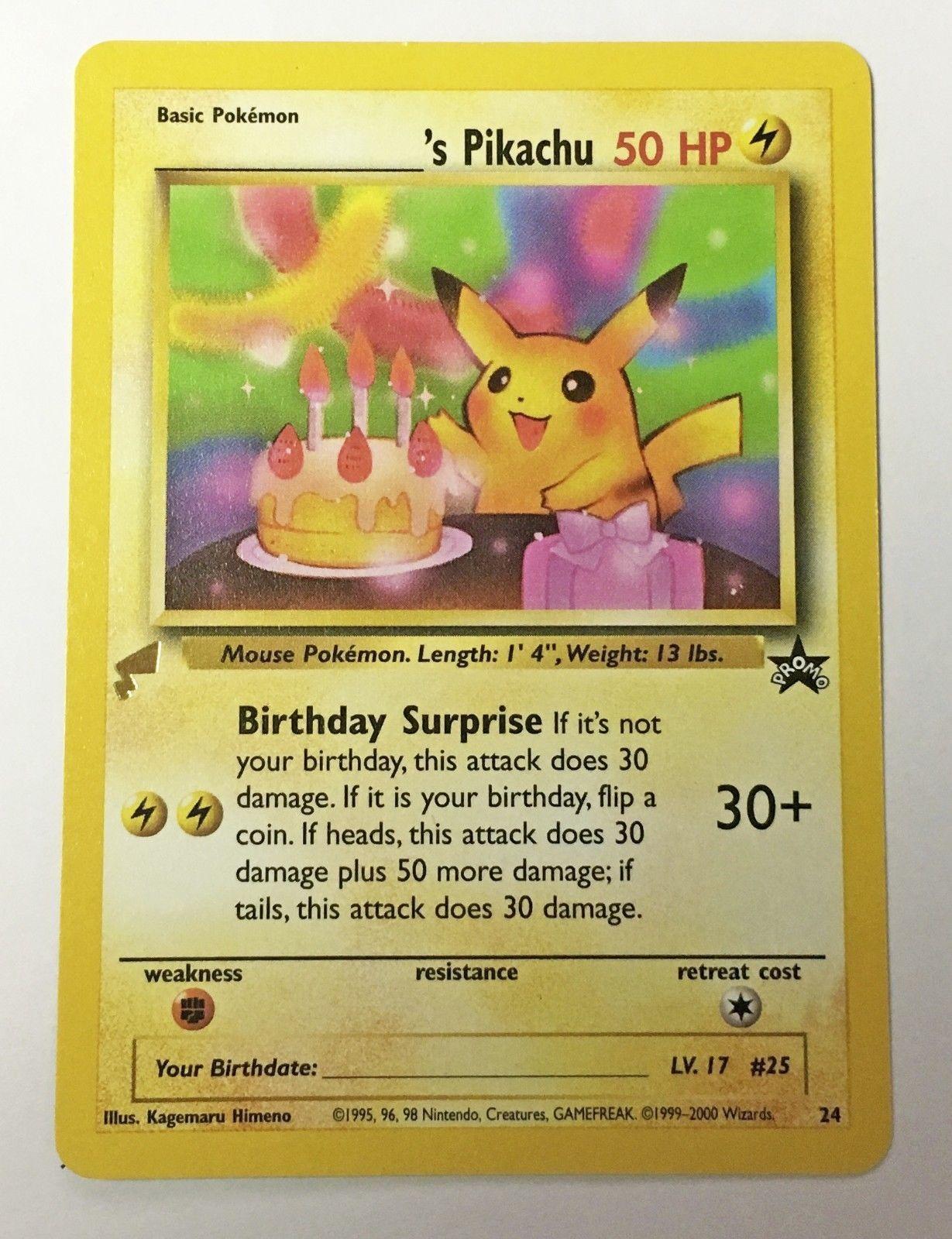 Recipes Directory Happy Birthday Fun Birthday Pikachu Pokemon Birthday Card