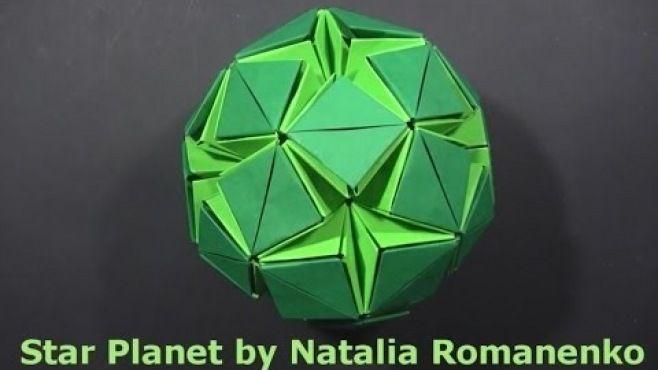 3D Origami - Yuvarlak Biçiminde Kusudama Yıldızı Tasarımı - Japon kağıt katlama sanatı (3D Origami) - teknikleri, örnekleri ve ipuçlarını videolu anlatımı. Kağıttan kusudama yıldızı yapımı
