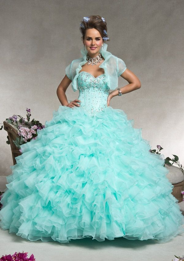 Quinceanera dresses by Vizcaya 88067 Organza with Beading Corset ...