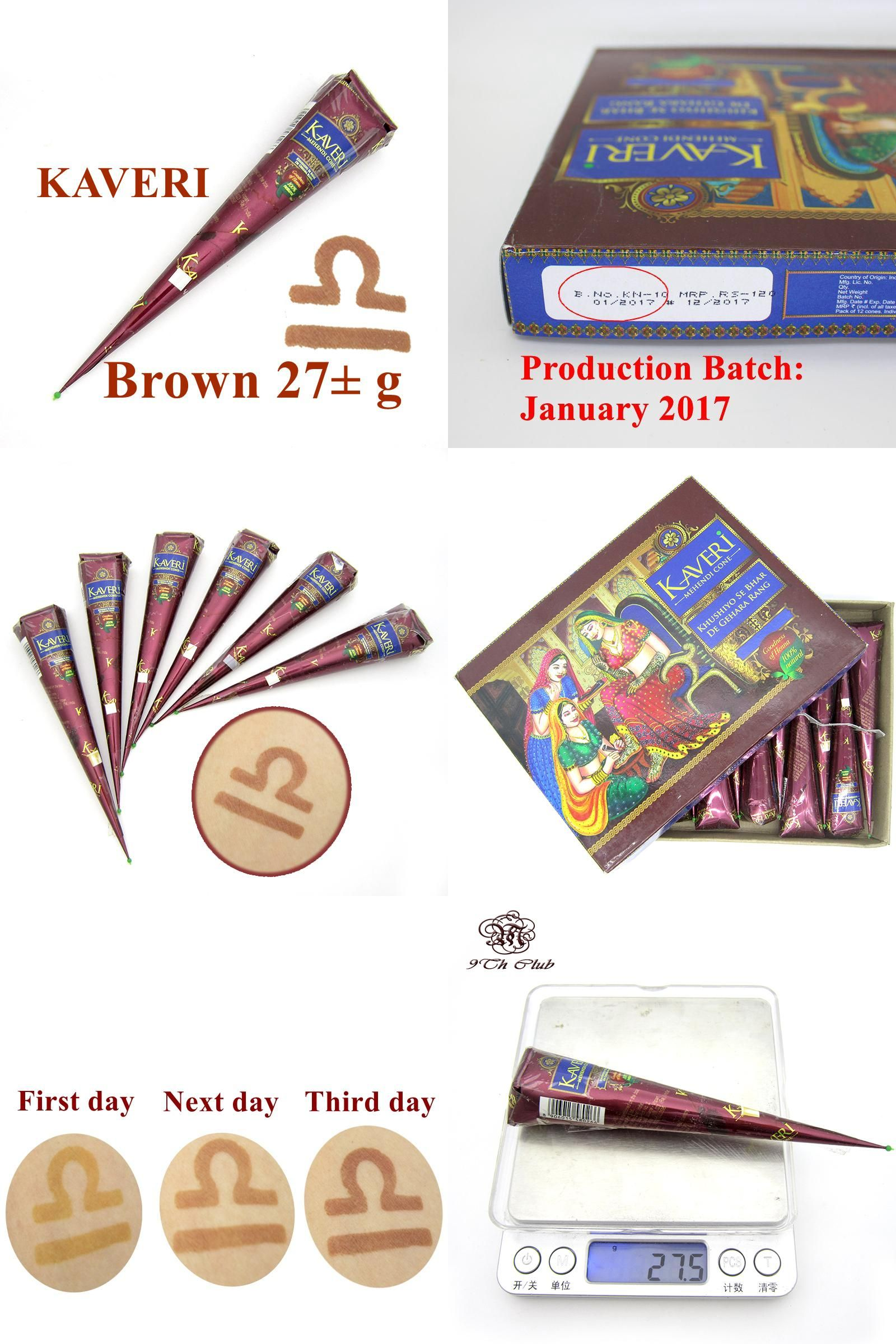 [Visit to Buy] New Natural Brown Indian Henna Tattoo Paste